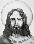 Christ Drawings - Jesus Christ by Michael  TMAD Finney
