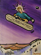 Snowboarding Paintings - Jesus Christ Pose by Matthew Stennett
