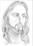 Forgiveness Drawings - Jesus Christ by Priya Paul