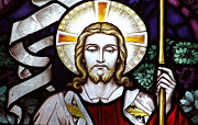 Jesus Photos - Jesus Close Up Stained Glass by Munir Alawi