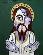 Christian Art Mixed Media Framed Prints - Jesus Crist Superstar Framed Print by Anthony Falbo
