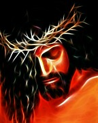 Savior Digital Art - Jesus Crying For You by Pamela Johnson