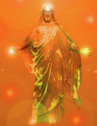 Jesus Christ Icon Prints - Jesus-Energy No. 01 Print by Ramon Labusch