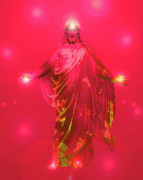 Basis-chakra Posters - Jesus-Energy No. 33 Poster by Ramon Labusch