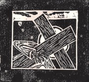 Woodcut Originals - Jesus falls a second time by Lars Lindgren