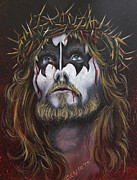 Gene Simmons Framed Prints - Jesus H. Simmons Framed Print by Chad Chase