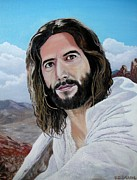 Gospel Prints - Jesus in the desert Print by Yulia Litvinova