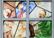 Stained Glass Windows Posters - Jesus is Chinese Poster by Christine Till