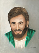 Word Portrait Painting Posters - Jesus Poster by Kent Gordon
