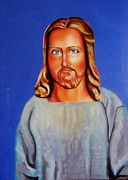 Jesus Painting Originals - Jesus by Leo Mikolin