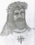 Religious Art Drawings - Jesus Loves Me by Sonya Chalmers