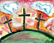 Oils Pastels - Jesus Loves You  by Levi Glassrock