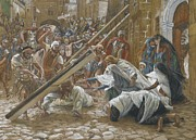 Calvary Paintings - Jesus Meets His Mother by Tissot