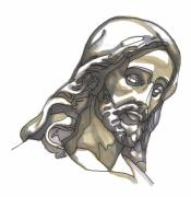 Jesus Drawings Prints - Jesus No 1 Print by Edward Ruth