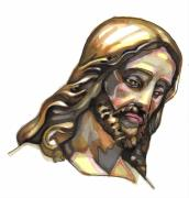 Lord Drawings Metal Prints - Jesus No 3 Metal Print by Edward Ruth