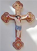 Icon Ceramics - Jesus On The Cross - Ceramic Crucifix by Anastasia Verpaelst