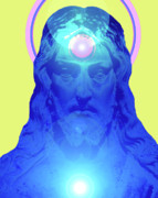 Auge Prints - Jesus-Portrait No. 04 Print by Ramon Labusch
