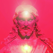 Basis-chakra Prints - Jesus-Portrait No. 05 Print by Ramon Labusch