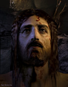 Christ Face Posters - Jesus Resurrected Poster by Ray Downing