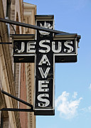 Saves Photos - Jesus Sign by Chris Bradshaw