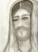 Jesus Drawings Prints - Jesus Print by Sonya Chalmers