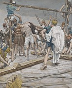 Bible Prints - Jesus Stripped of His Clothing Print by Tissot