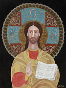 Byzantine Painting Framed Prints - Jesus the teacher Framed Print by Claudia French