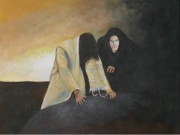 Temptation In The Wilderness Art - Jesus The Temptation by Rosetta  Jallow