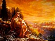 Jesus Thinking About People Print by Pamela Johnson