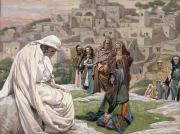 Seated Painting Prints - Jesus Wept Print by Tissot