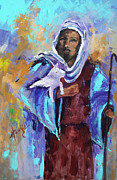 Lamb Originals - Jesus with Lamb by Mary DuCharme