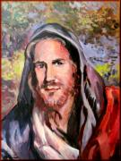 Tuscan Sunset Paintings - Jesus with landscape by Vaccaro