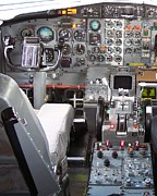 Passenger Plane Metal Prints - Jet Cockpit Metal Print by Thomas Woolworth