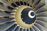Airplane Engine Posters - Jet engine detail. Poster by Fernando Barozza