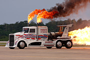 Jet-powered Metal Prints - Jet Engine Truck Metal Print by Joe Elliott