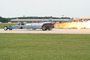 Jet-powered Metal Prints - Jet Powered Funny Car Metal Print by Eric Irion
