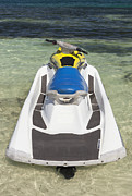Ski Place Prints - Jet Ski In Shallow Water At The Waters Print by Bryan Mullennix