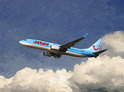 Boeing Paintings - JetairFly Boeing 737 by Nop Briex