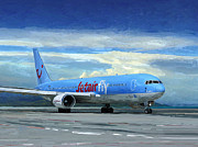 Boeing Paintings - JetairFly Boeing 767 in Costa Rica by Nop Briex