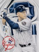Www.sportsartworldwide.com  Paintings - Jeter Original Sold  by Sports Art World Wide John Prince