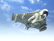 Jet Pack Photo Metal Prints - Jetman, Artwork Metal Print by Henning Dalhoff