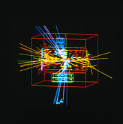 Electronic Photos - Jets Of Particles From Matter/antimatter Collision by David Parker