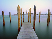 Wooden Post Framed Prints - Jetty Framed Print by Bernd Schunack