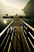 Light Rays Posters - Jetty Poster by Joana Kruse