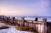 Winter Travel Prints - Jetty Sunset Print by Drew Castelhano