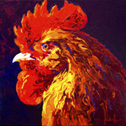Rooster Art - Jewel by Marion Rose