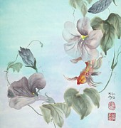 Buddhist Paintings - Jewel Morning Glory by Marilyn Allysum