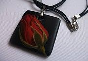 Hand Painted Pendant Jewelry - Jewelry design by Lyubov Rasic