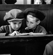 Two By Two Framed Prints - Jewish Boys Framed Print by Fred Ramage