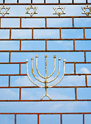 Star Of David Photos - Jewish Gate With a Menorah by Inti St. Clair
